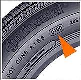DOT на боковой стороне шины