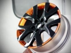 Покраска алюминиевых автомобильных дисков порошковыми полимерными красками.