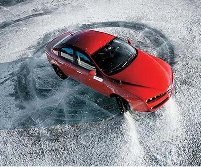 Шипованные шины и высокая скорость.